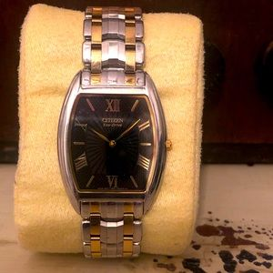 Men's Citizens Eco Drive Stiletto Sapphire watch